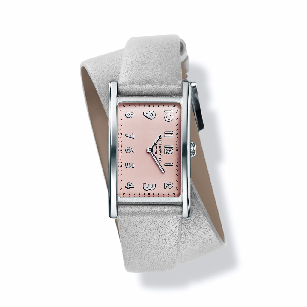 Tiffany East West Mini 2-Hand 37 x 22 mm watch in stainless steel.