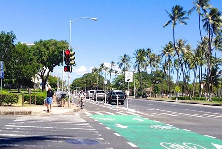 하와이의 법 신호등