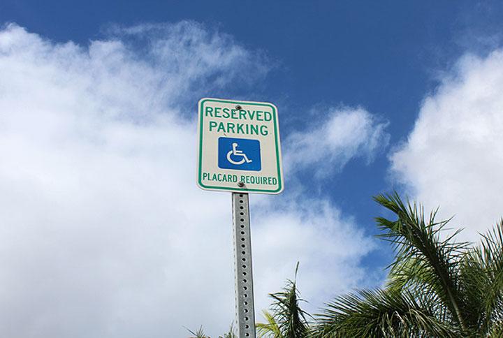 하와이의 법 장애인주차