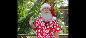 산타 사진찍기 하와이